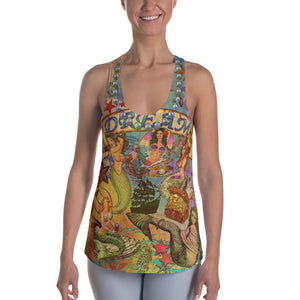 """THE MERMAID TATTOO TANK""; Women's Racerback Tank"