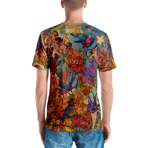 "THE BLUEBIRD TATTOO TEE""; Men's T-shirt"