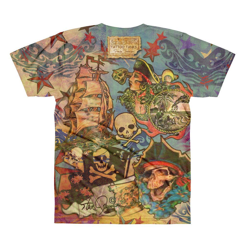 "THE ""PIRATE TATTOO"" TEE; Men's t-shirt"