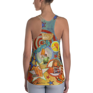 """THE DREAMCYCLE TATTOO TANK""; Women's Racerback Tank"