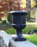 Classic Tuscan Urn - Blackstone with Copper Patina Frame Frontporchplanter