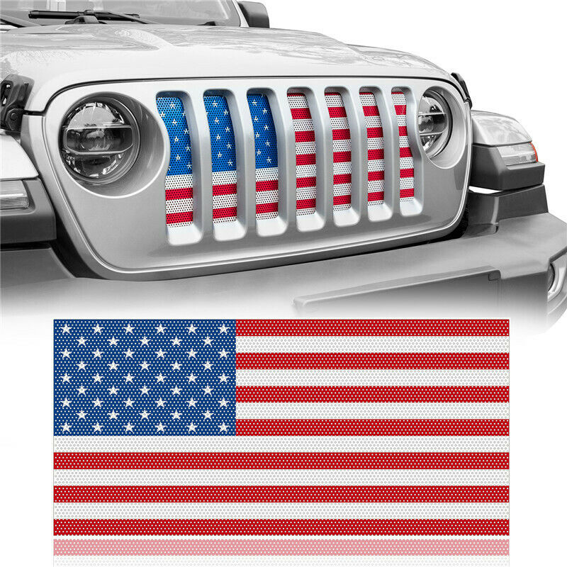 US American Flag Jeep Grille Insert Distressed Old Glory