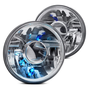 "Gladiator Gear 7"" High-Octane Chrome Projector Headlights"