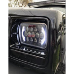 2x LED Headlights For Jeep Wrangler YJ