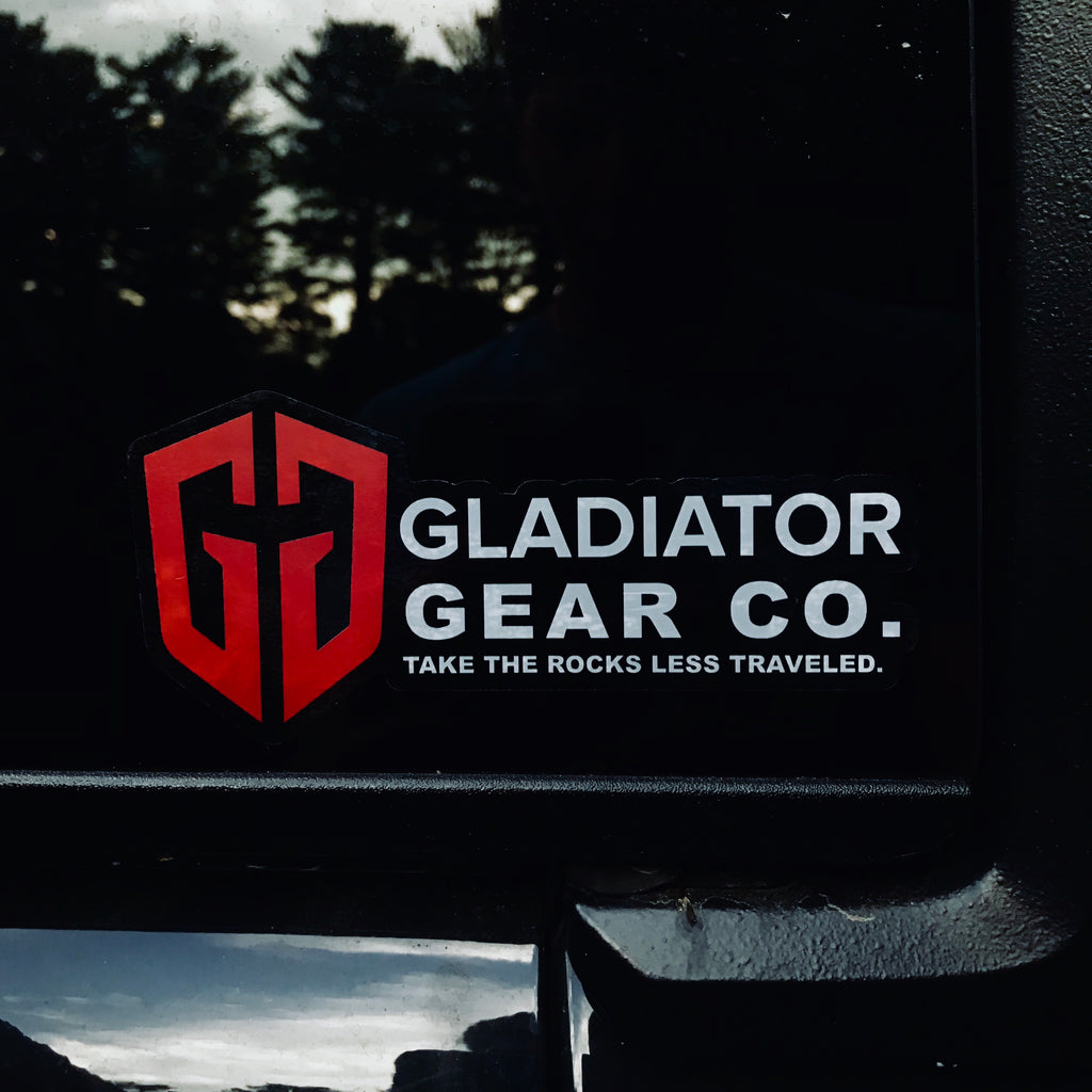 GG: Rocks Less Traveled® Jeep Die Cut Clear Sticker