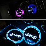 Unique Jeep Logo Cup Holder LEDs