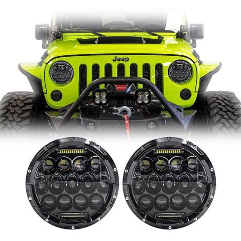Spec. 9 JK LED Headlights w/ DRL