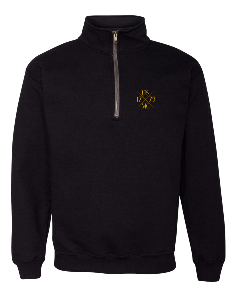 1775X USMC Adult Quarter Zip Fleece-Black