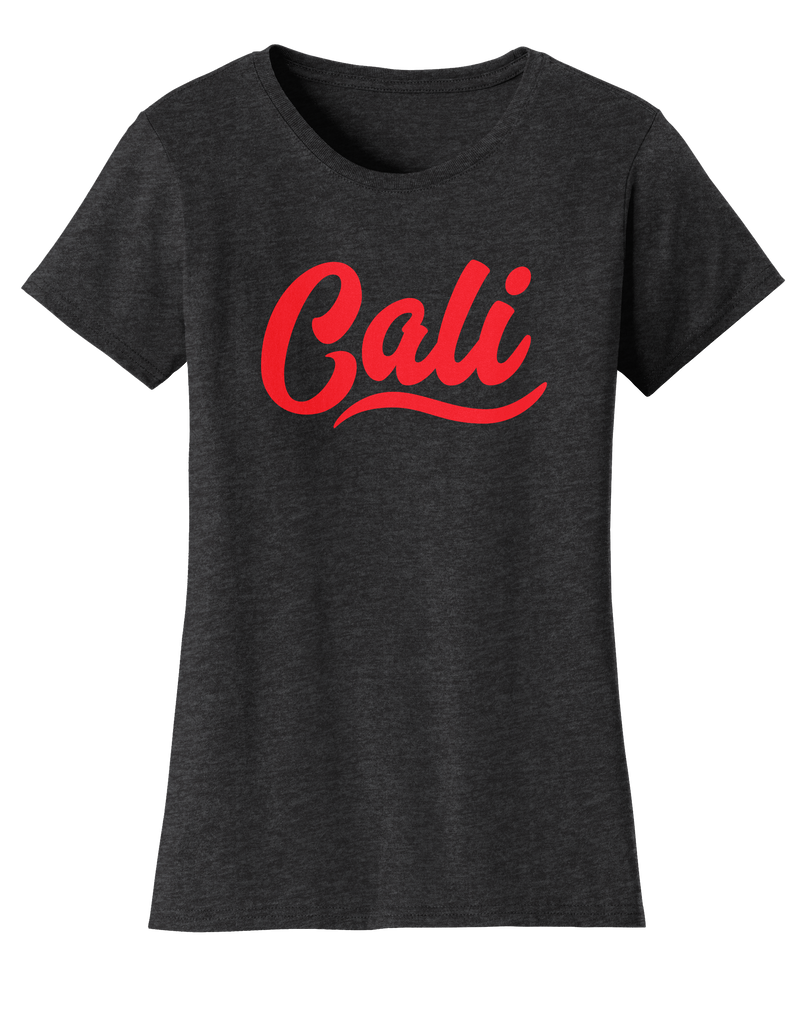 CA CALI Womens Tee-Graphite Heather