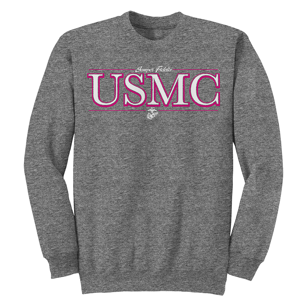 Flash USMC Adult Sweatshirt-Graphite Heather