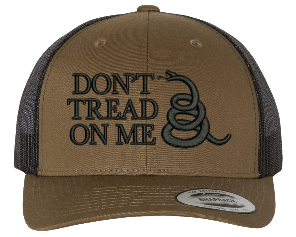 Don't Tread On Me Snake Snapback Hat