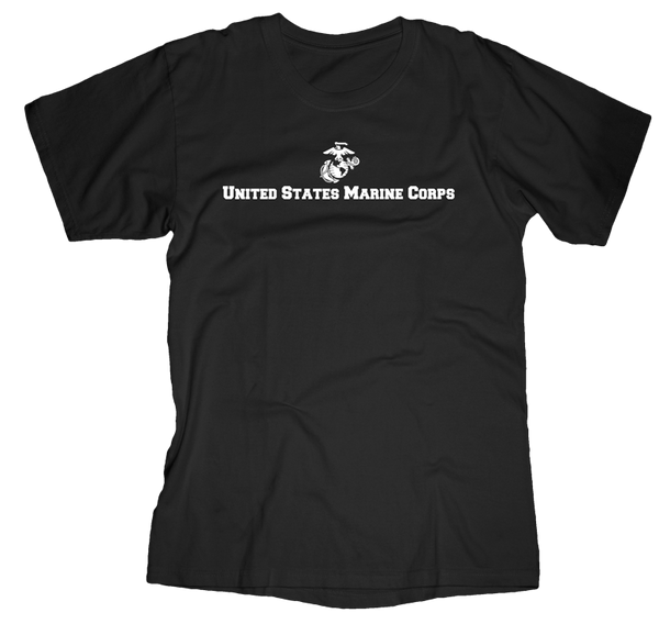 Semper FI Flag USMC Mens Tee-Black
