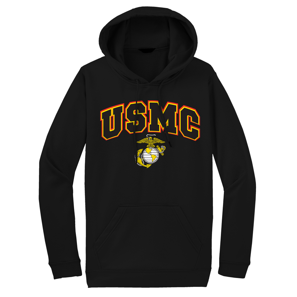 USMC Above EGA Adult USMC Hoodie-Black