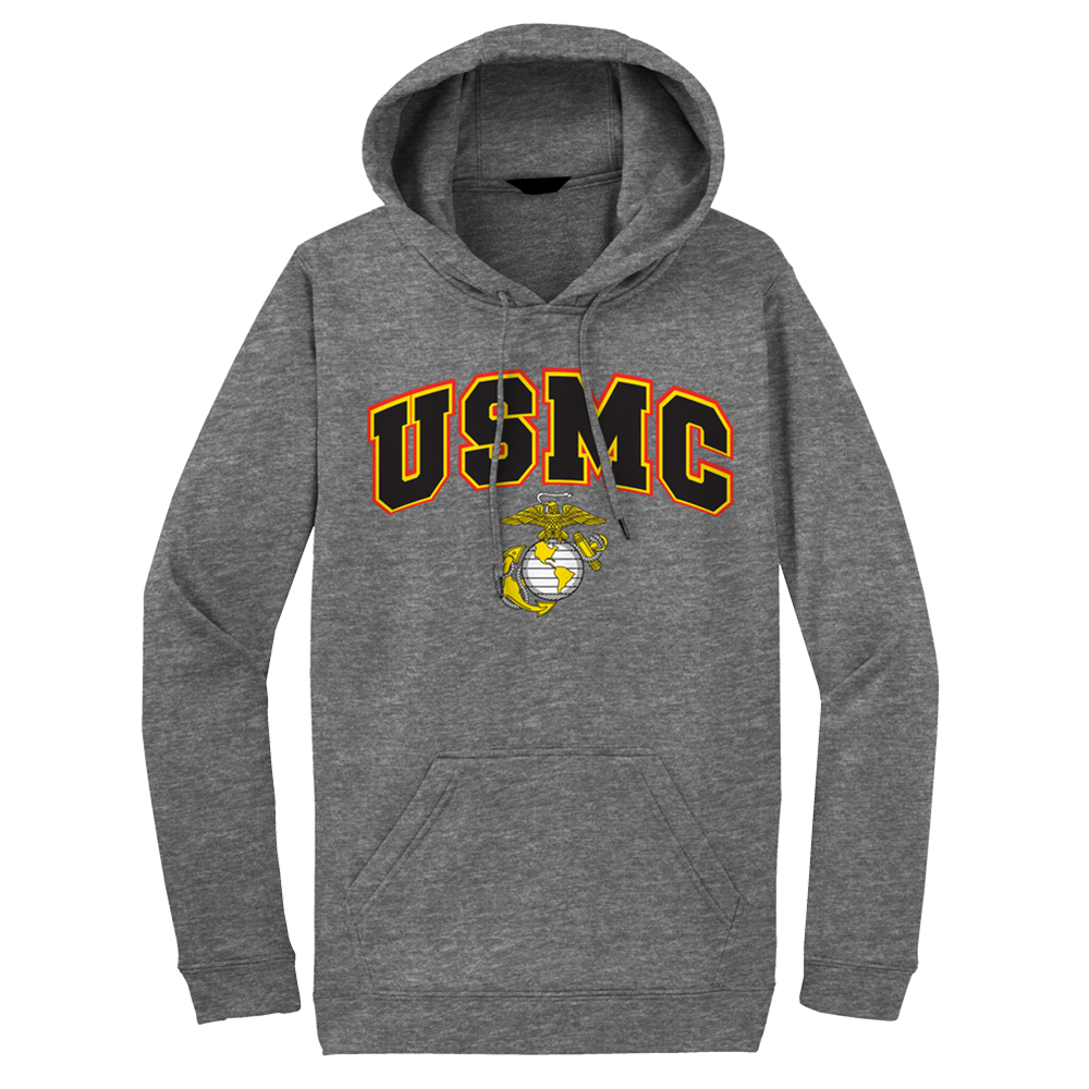 USMC Above EGA Adult Hoodie-Sport Grey