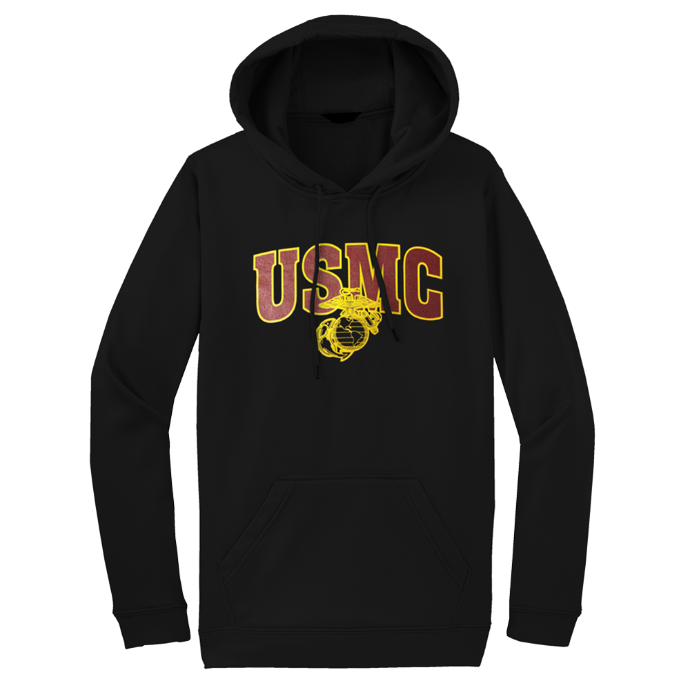 Outline USMC Adult Hoodie-Black