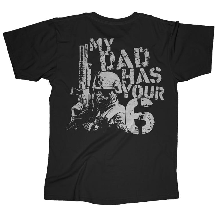 Dad 6 USMC Youth Tee-Black