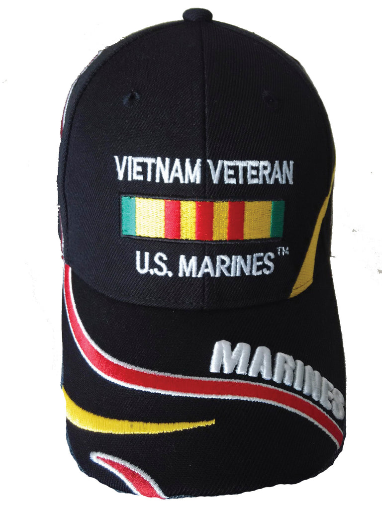 U.S. Marines Vietnam Veteran Ribbon Embroidered Hat