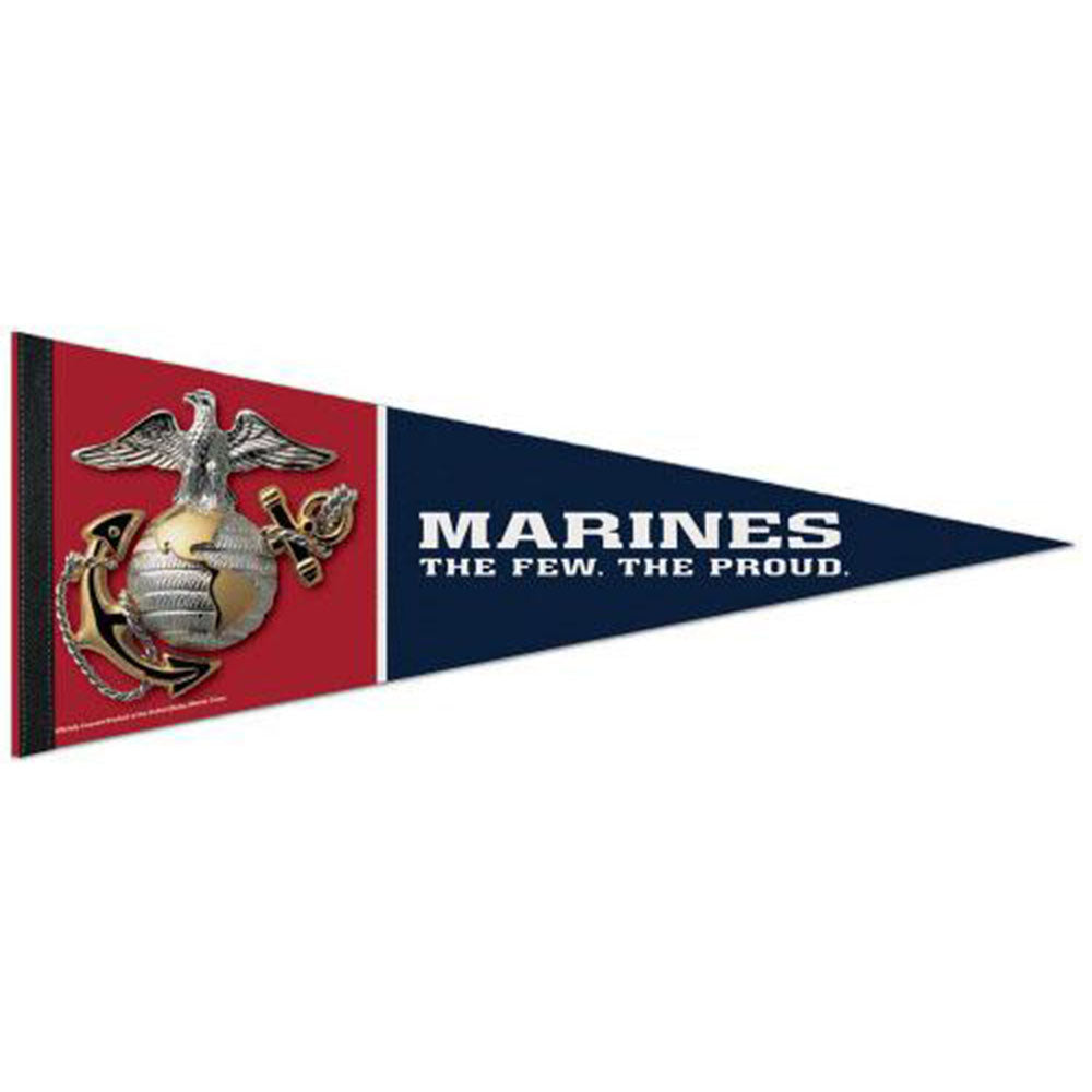 "Marines Logo 12""x30"" Roll Up USMC Pennant"