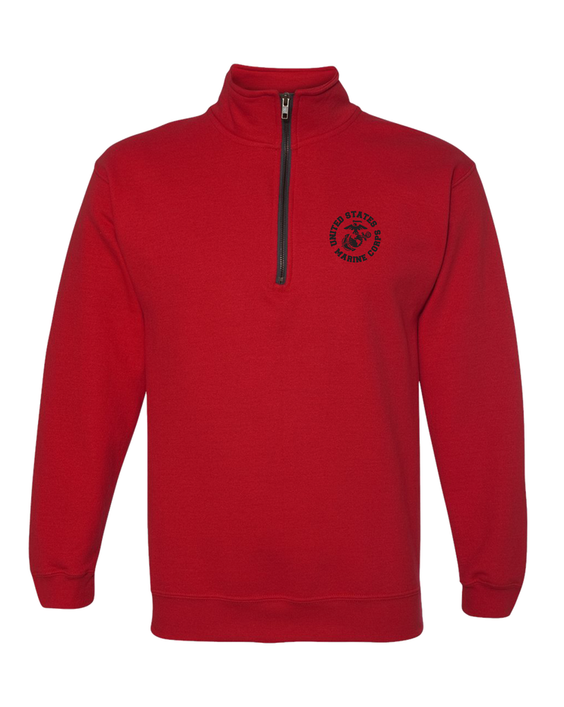 EGA Circle 1/4 Zip Adult USMC Sweatshirt