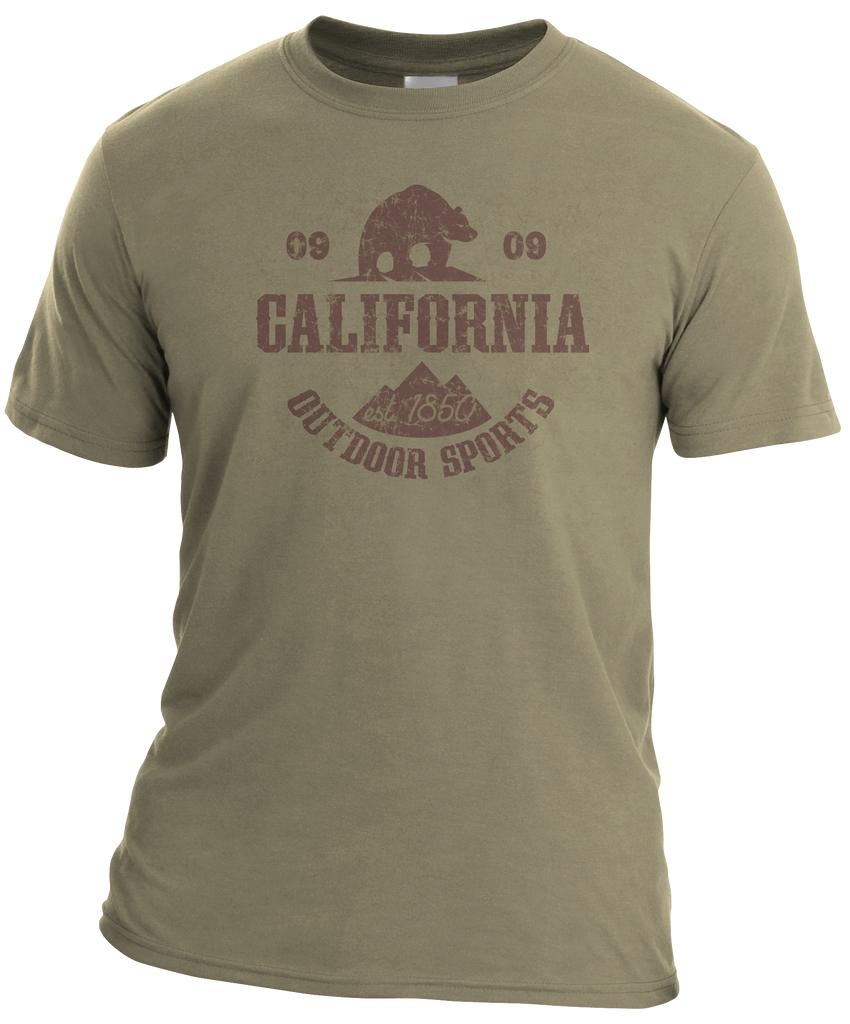 CA Outdoor Sports Mens Tee-Prairie Dust