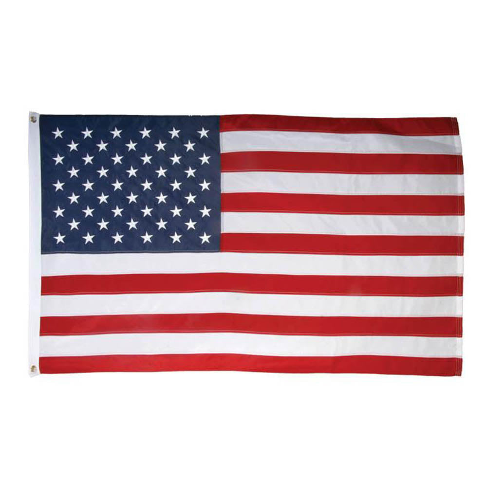 USA 3'x5' Embroidered 210d Polyester Flag