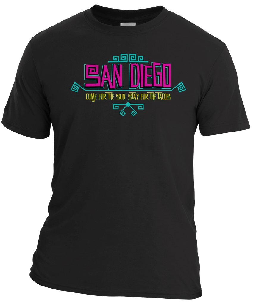 San Diego Sun and Tacos Mens Tee-Black