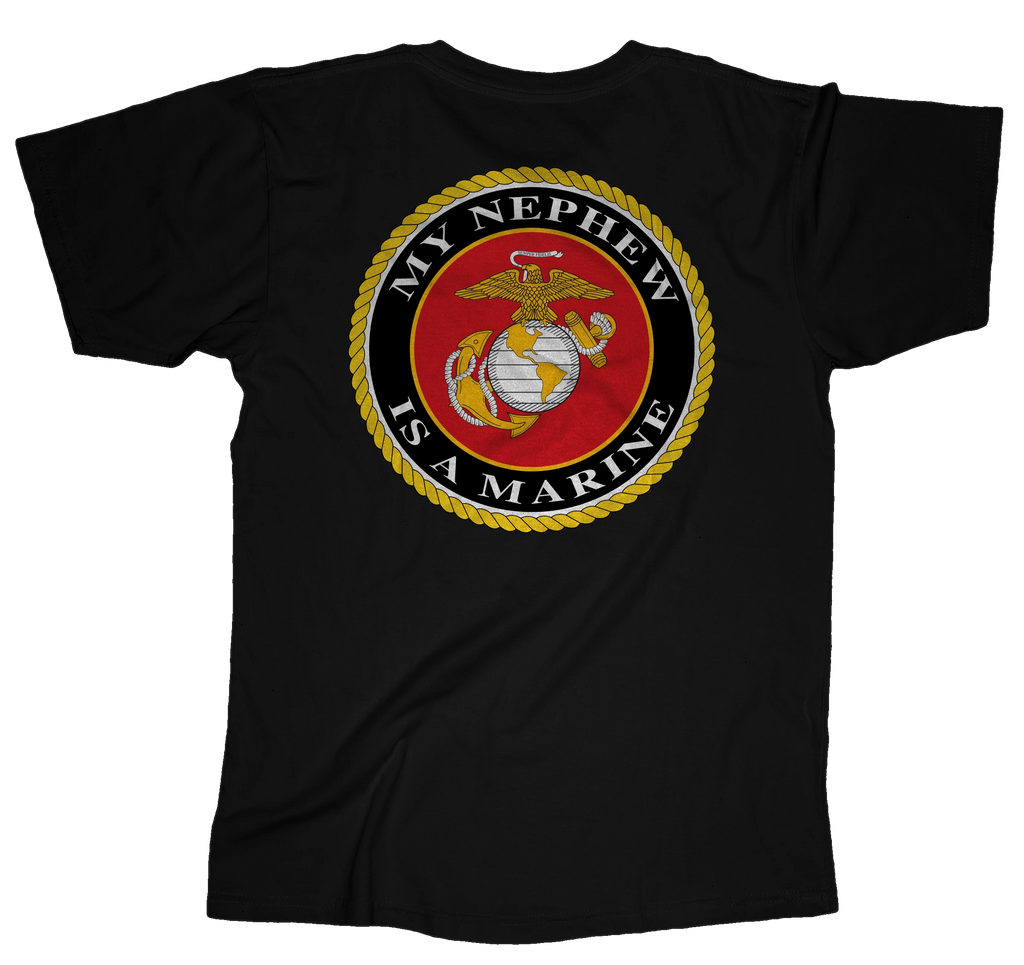 USMC Seal My Nephew Is a Marine Mens Tee-Black