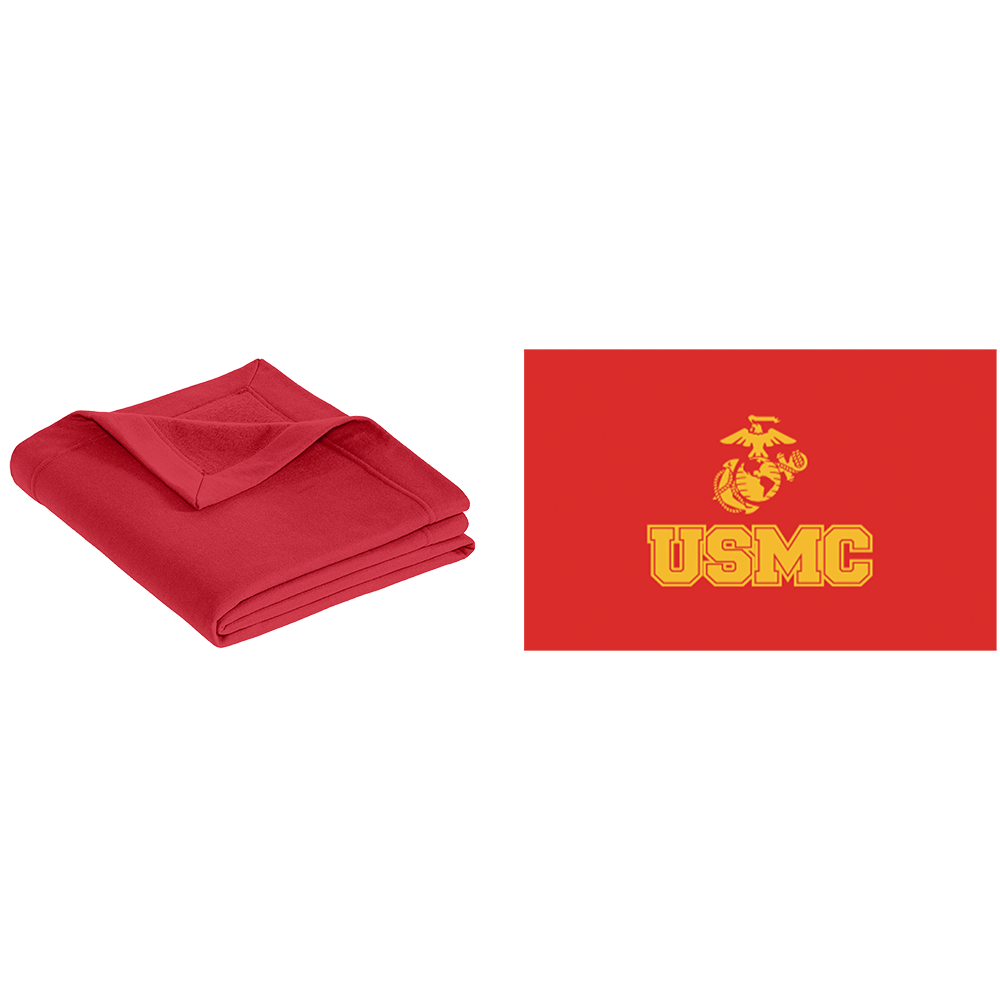 USMC Fleece Stadium Blanket