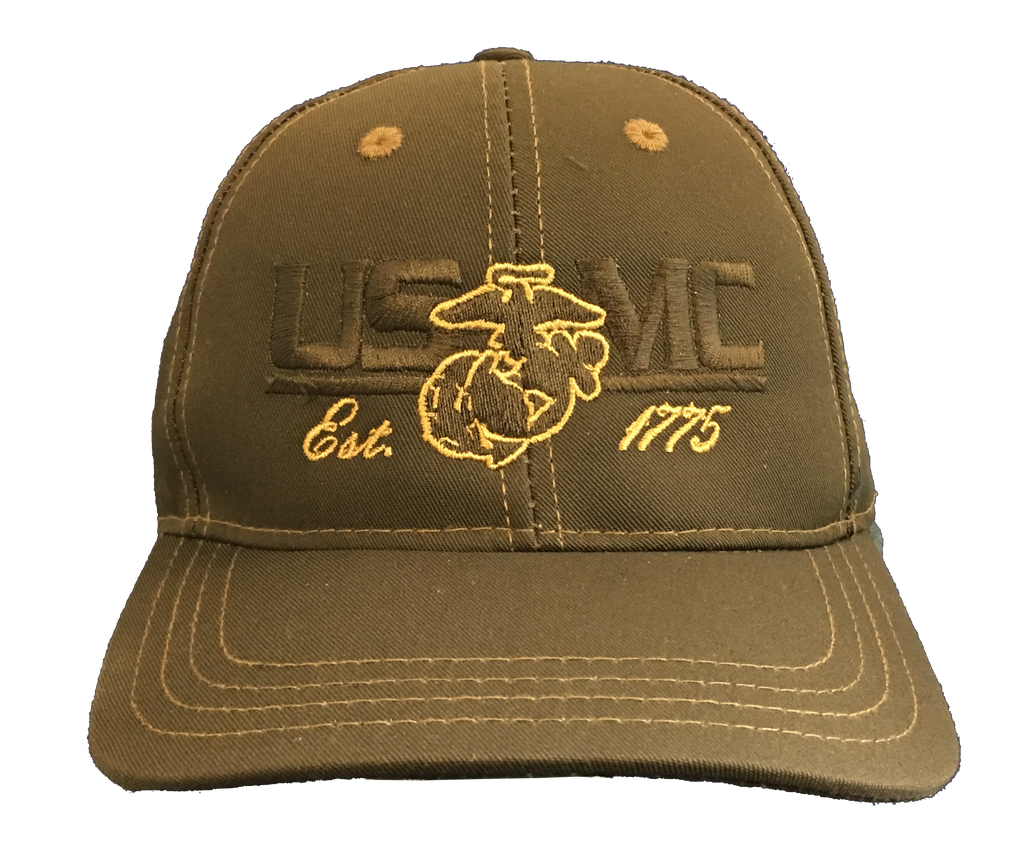 USMC Woodland Hat-Brown