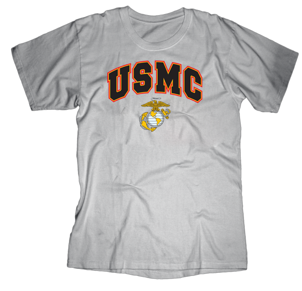 USMC Above EGA Mens Tee-Sport Grey