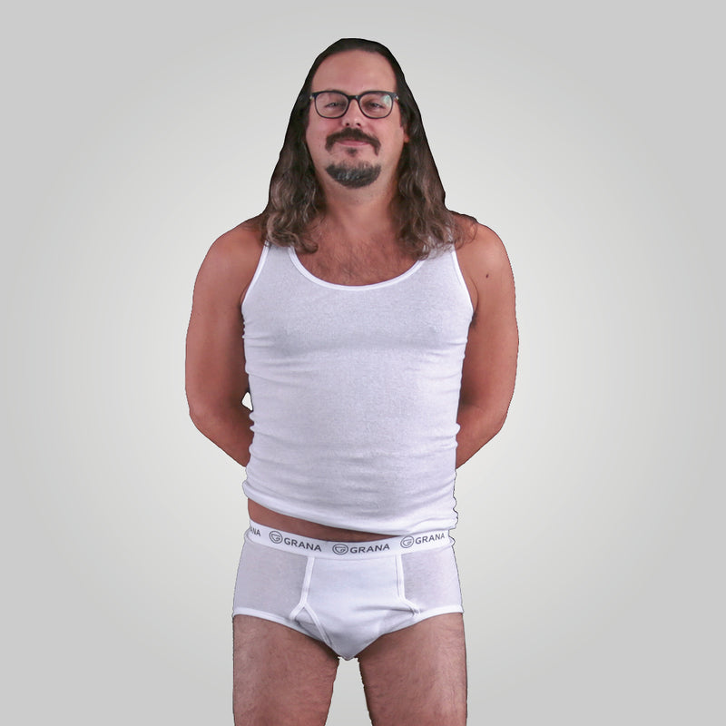 Classic White Brief (Plus Size) - 2 Pack