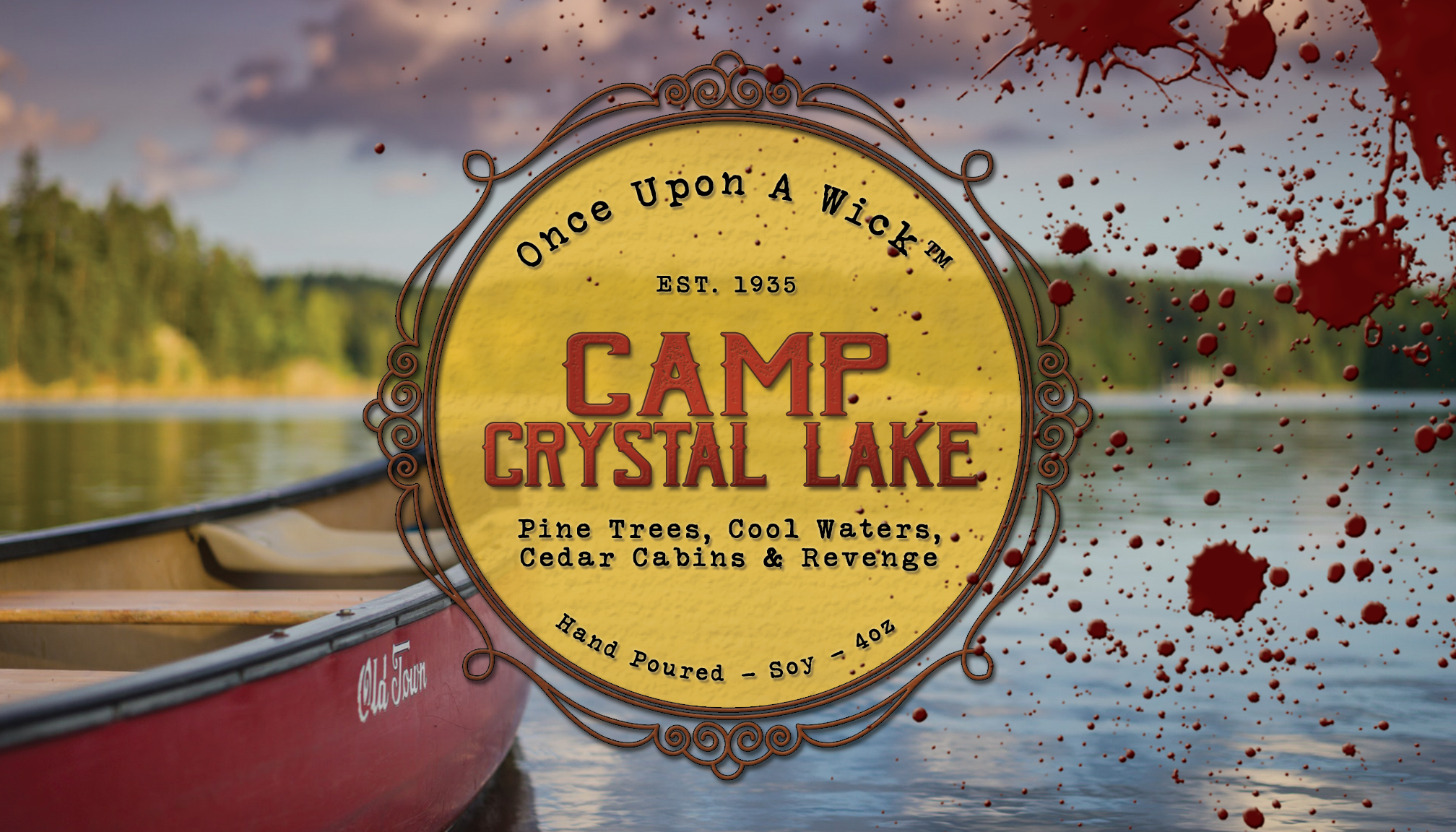 Camp Crystal Lake | Friday the 13th Inspired Soy Candle