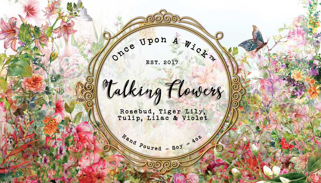 Talking Flowers | Alice In Wonderland Inspired Soy Candle