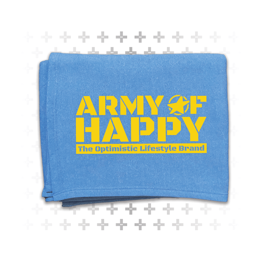 Fleece Blanket - Army of Happy