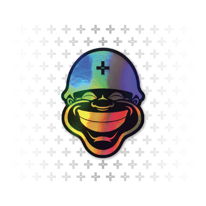 "Happy Soldier 3"" Hologram Sticker - Army of Happy"