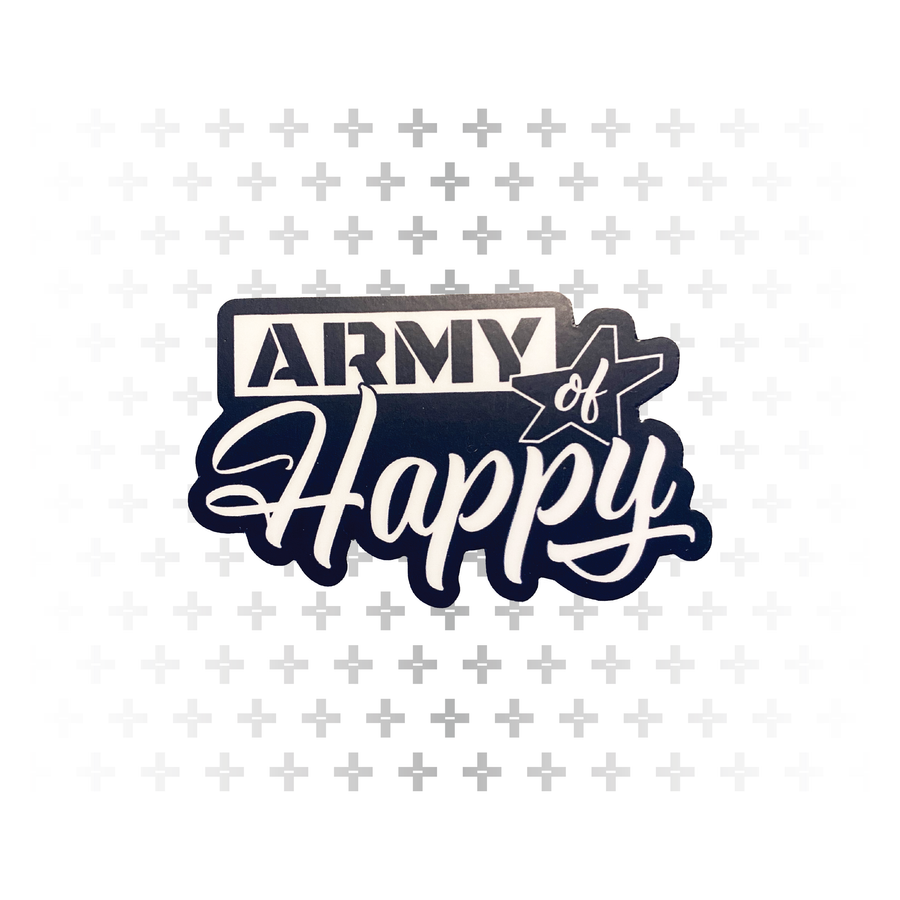 "Stacked Logo 3"" Sticker - Army of Happy"