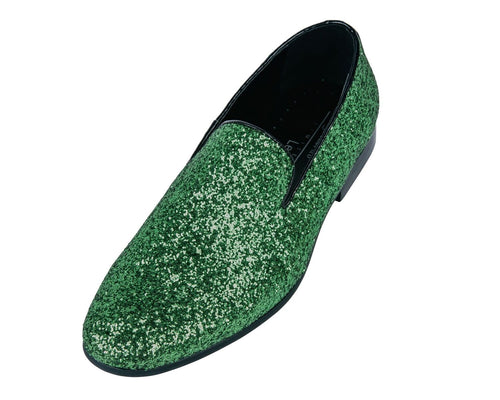 Green Sparkle Loafer Shoes-The Shoe Square