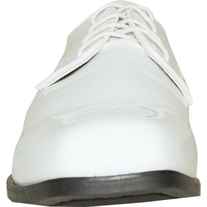 Isaac - White Patent Formal Dress Shoes-The Shoe Square