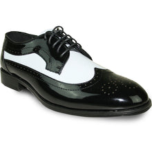 Load image into Gallery viewer, Elliot - Black & White Patent Formal Dress Shoes-The Shoe Square