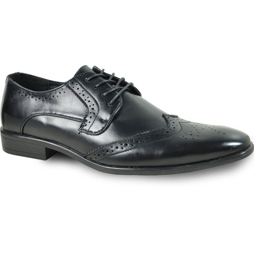 Oscar - Black Wingtip Oxford Dress Shoes-The Shoe Square