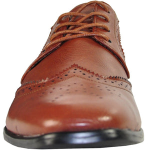 Oscar - Brown Wingtip Oxford Dress Shoes-The Shoe Square