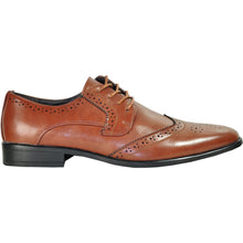 Load image into Gallery viewer, Oscar - Brown Wingtip Oxford Dress Shoes-The Shoe Square