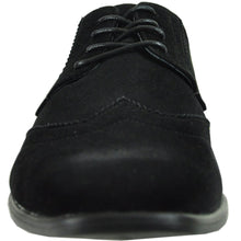 Load image into Gallery viewer, Leo - Black Wingtip Oxford Dress Shoes-The Shoe Square