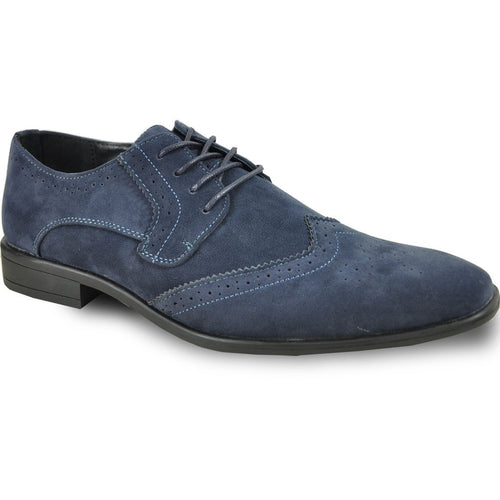 Leo - Blue Wingtip Oxford Dress Shoes-The Shoe Square