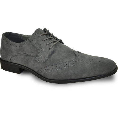 Leo - Grey Wingtip Oxford Dress Shoes-The Shoe Square