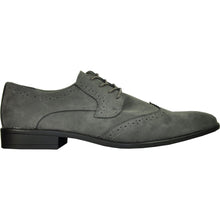 Load image into Gallery viewer, Leo - Grey Wingtip Oxford Dress Shoes-The Shoe Square