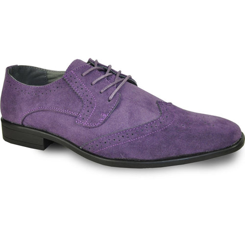 Leo - Purple Wingtip Oxford Dress Shoes-The Shoe Square