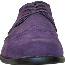 Load image into Gallery viewer, Leo - Purple Wingtip Oxford Dress Shoes-The Shoe Square