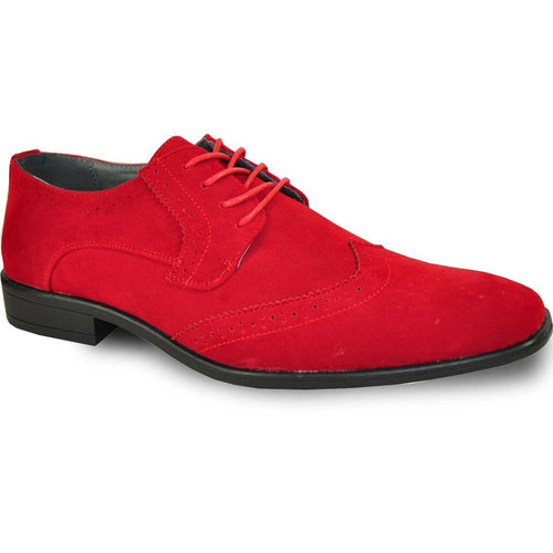 Leo - Red Wingtip Oxford Dress Shoes-The Shoe Square