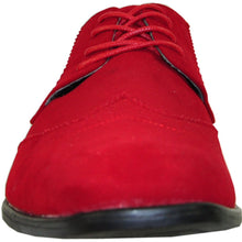 Load image into Gallery viewer, Leo - Red Wingtip Oxford Dress Shoes-The Shoe Square